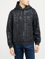 Emporio Armani All Over Text Logo Hoodie