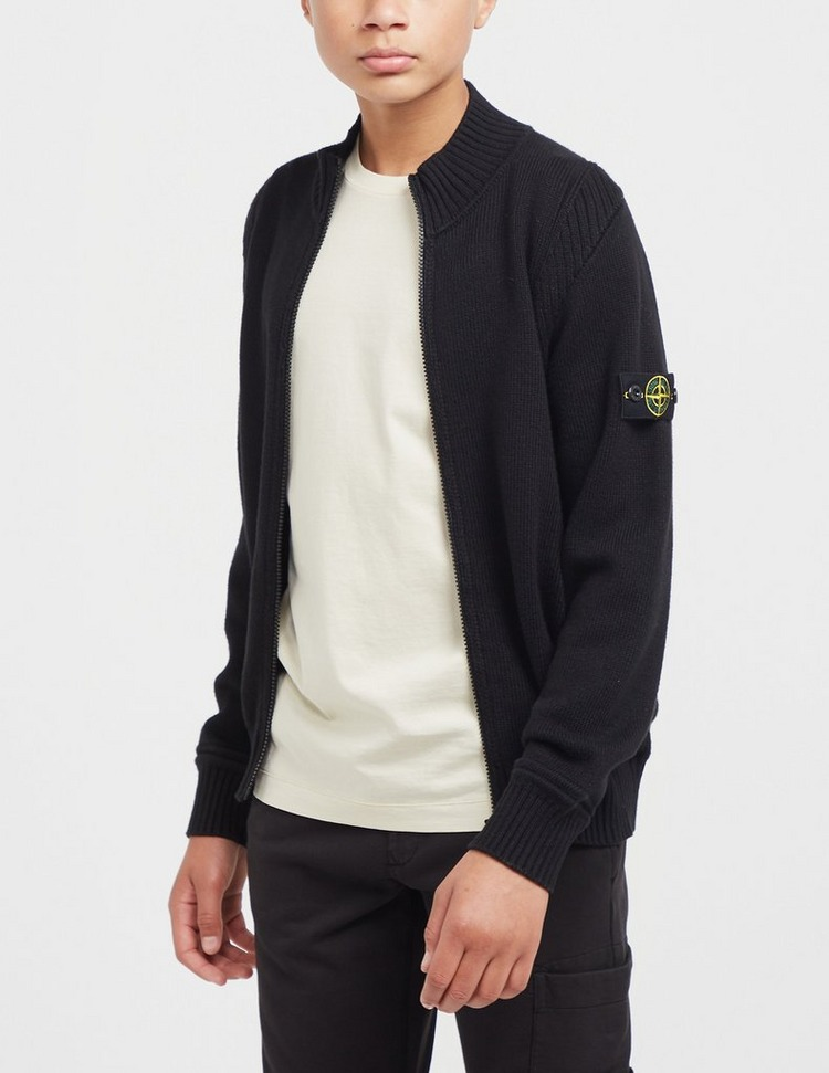 Stone Island Junior Zip Knitted Jacket
