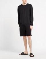 Moschino Shoulder Black Tape Long Sleeve T-Shirt