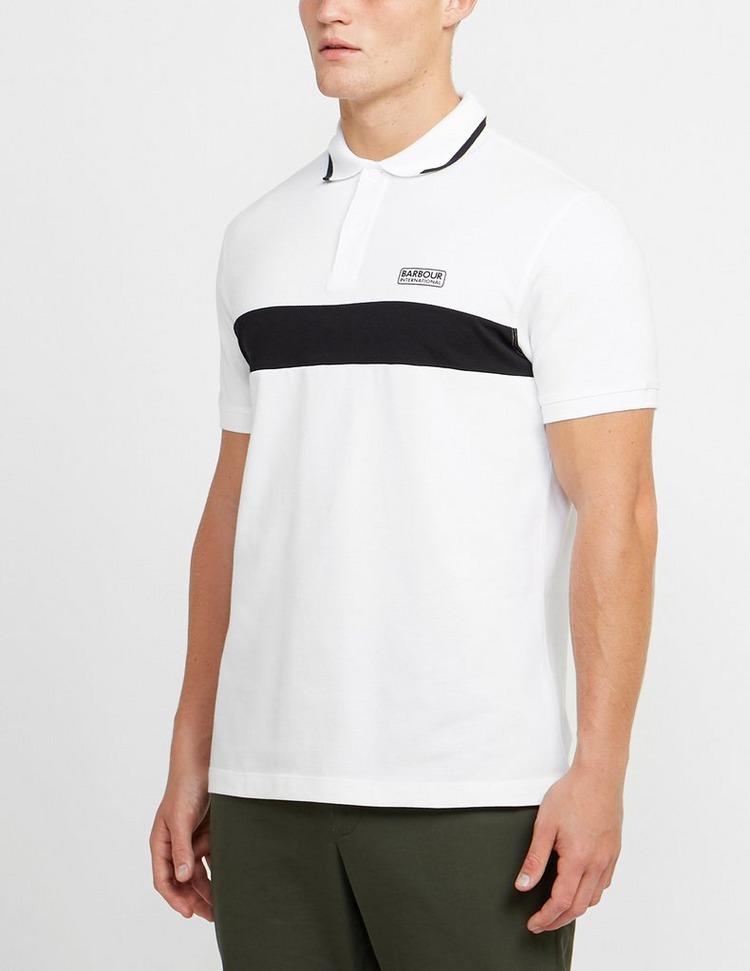 Barbour International Block Stripe Short Sleeve Polo Shirt