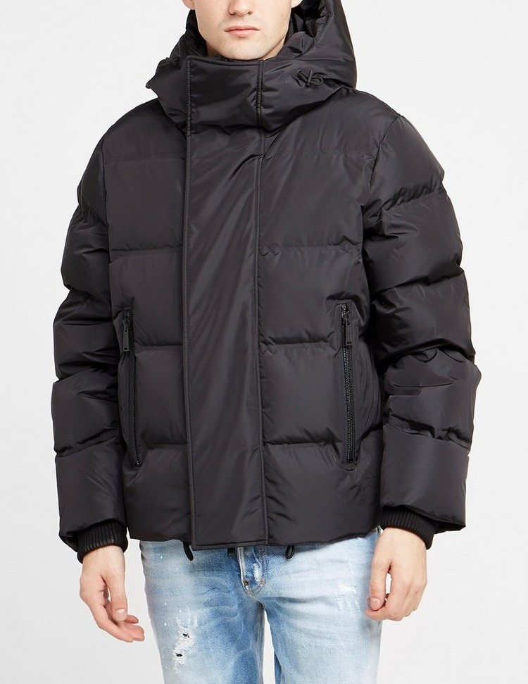 Dsquared2 Placket Logo Hooded Puffer Jacket