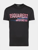 Dsquared2 Pink Multi-Text T-Shirt