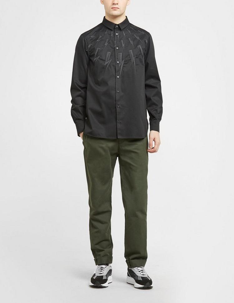 Neil Barrett Embroidered Bolt Long Sleeve Shirt