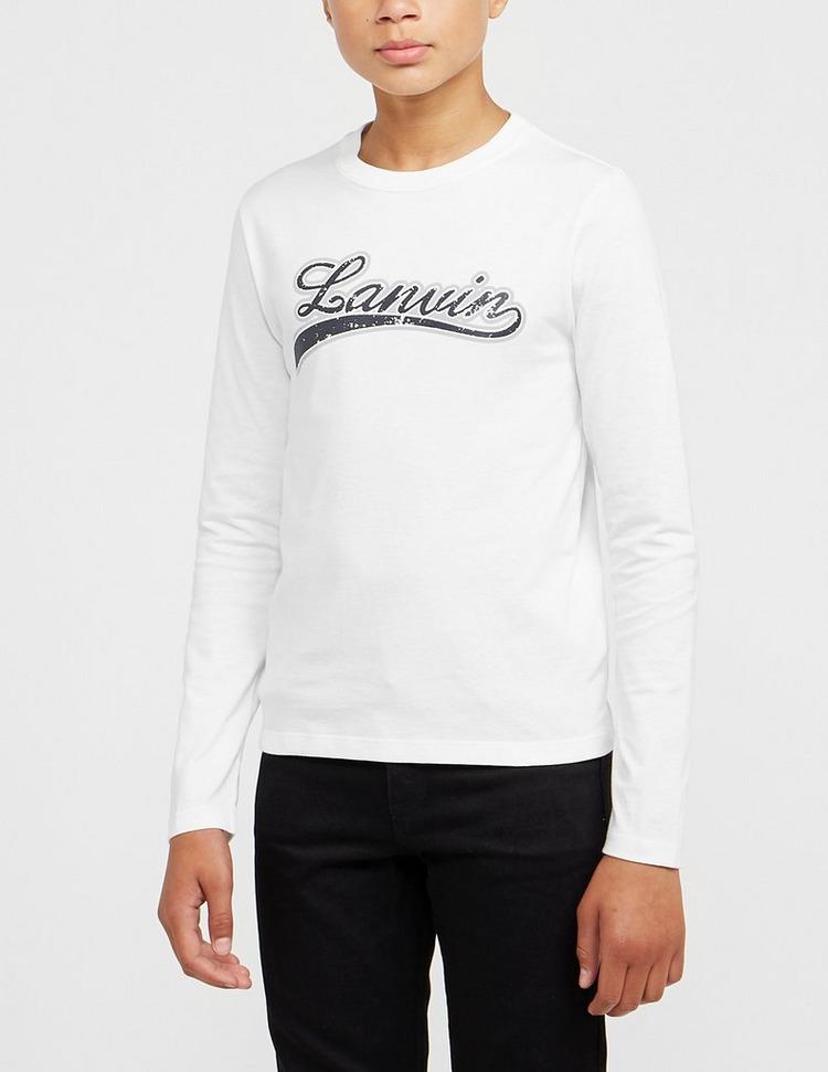 Lanvin Long Sleeve Logo T-Shirt