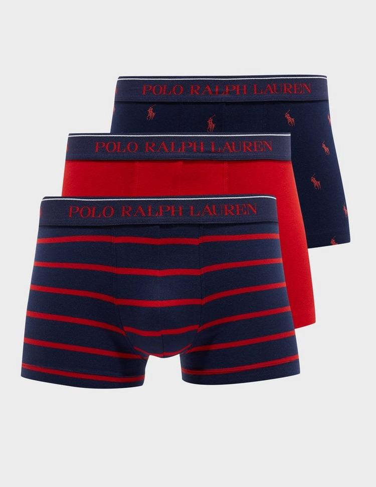 Polo Ralph Lauren 3 Pack Pony Stripe Boxer Shorts