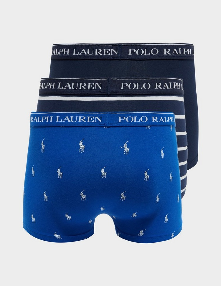 Polo Ralph Lauren 3 Pack Pony Stripe Boxer Shorts