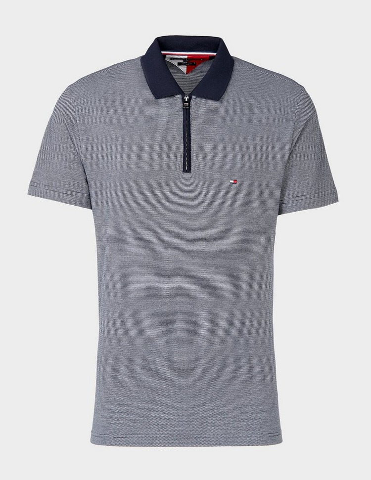 Tommy Hilfiger Jacquard Zip Short Sleeve Polo Shirt
