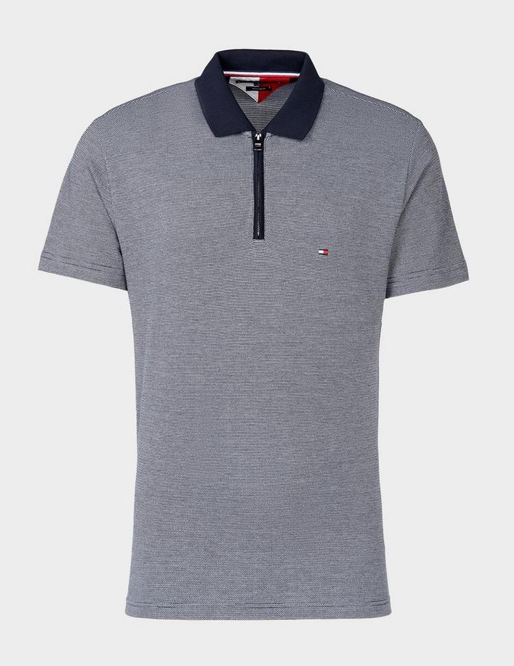 Tommy Hilfiger Jacquard Zip Short Sleeve Polo Shirt