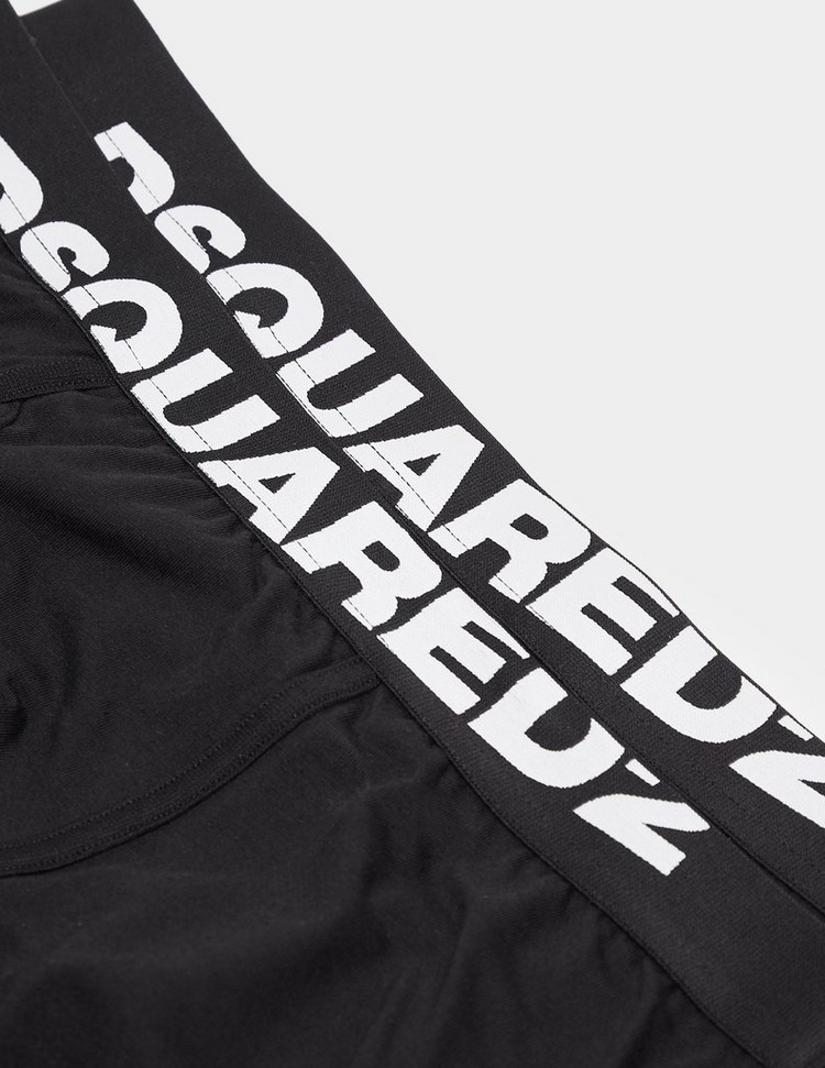 Dsquared2 2 Pack Large Logo Boxer Shorts