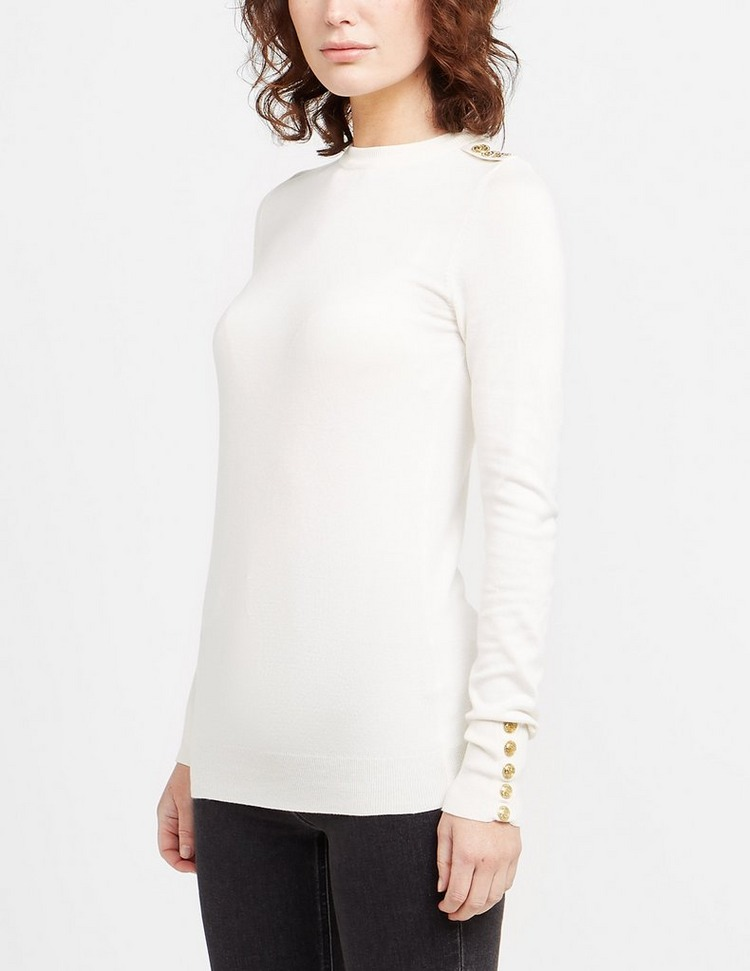 Holland Cooper Button Crew Neck Knitted Jumper