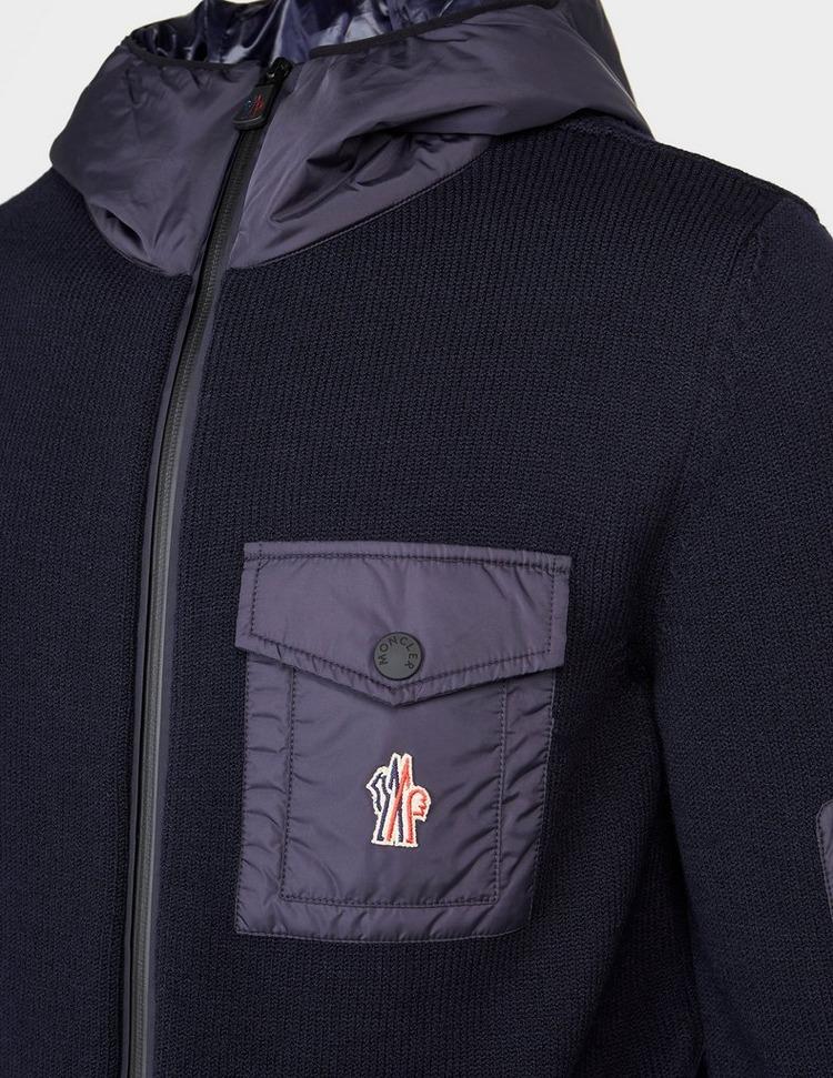 Moncler Grenoble Nylon Panel Knitted Zip Hoodie