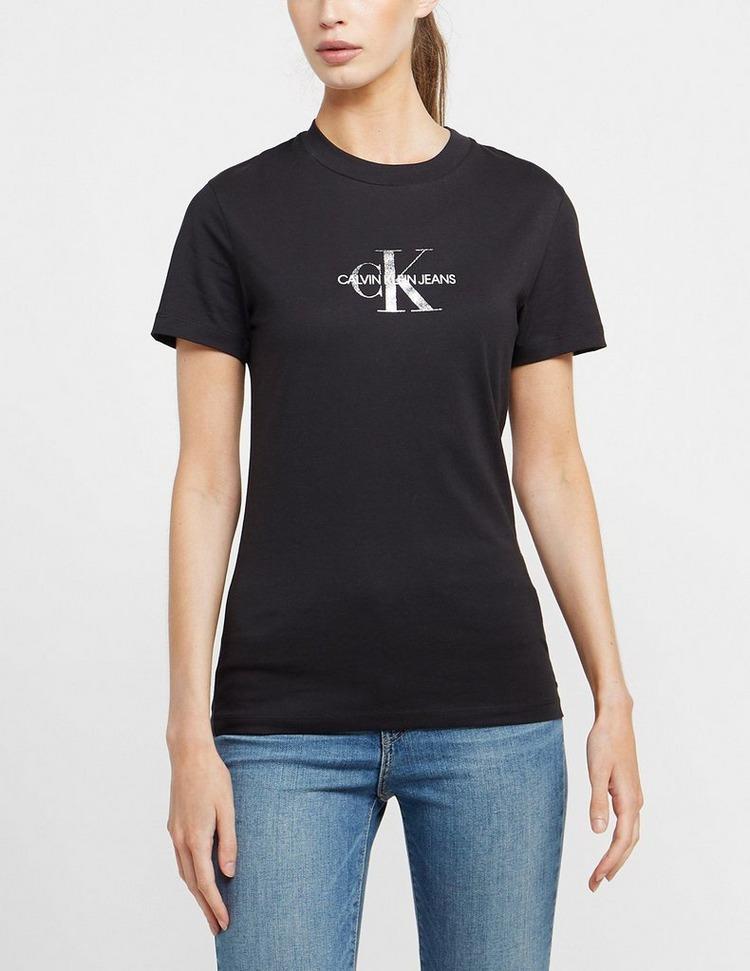Calvin Klein Jeans Glitter Monogram Short Sleeve T-Shirt