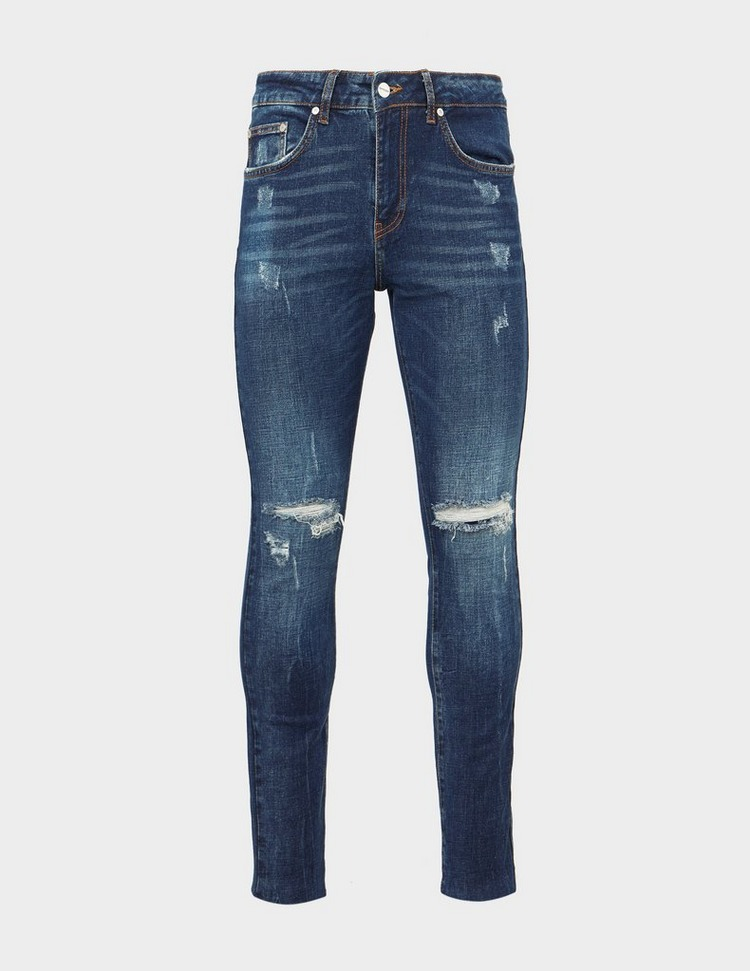 Represent Knee Patch Skinny Jeans