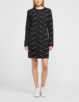 Love Moschino All Over Print Signature Sweater Dress