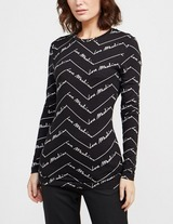Love Moschino All Over Print Long Sleeve T-Shirt