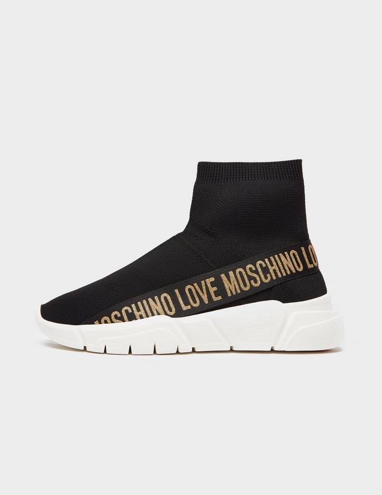 Love Moschino Glitter Tape Sock Trainers