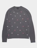 Emporio Armani All Over Eagle Knit Jumper