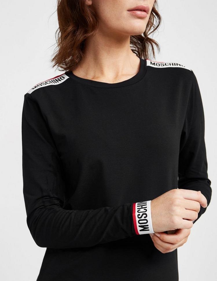 Moschino Back Logo Tape Long Sleeve T-Shirt