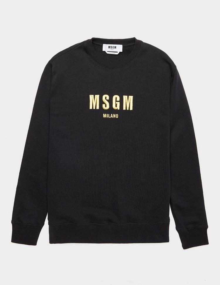 MSGM Gold Logo Sweatshirt