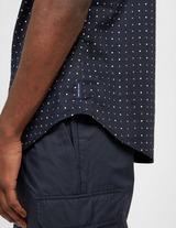 Armani Exchange All Over Micro Logo Short Sleeve Shirt