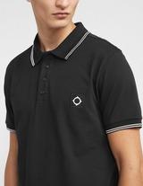 Ma Strum Badge Tipped Short Sleeve Polo Shirt