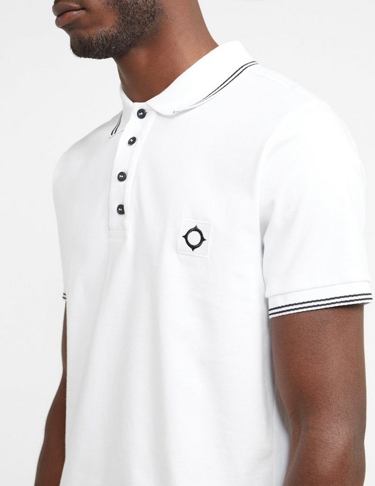 Ma Strum Badge Tipped Short Sleeve Polo Shirt