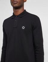 Ma Strum Badge Long Sleeve Polo Shirt
