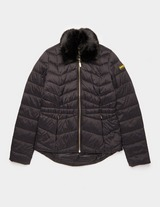 Barbour International Quilted Fur Jacket