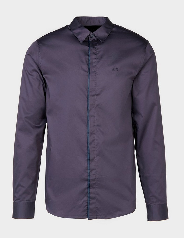 Armani Exchange Trim Placket Long Sleeve Shirt