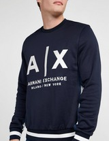 Armani Exchange One Size Logo Crew Sweatshirt