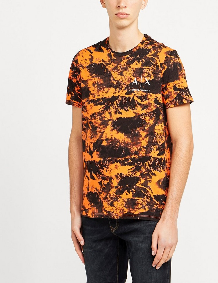 Armani Exchange All Over Mountain Short Sleeve T-Shirt