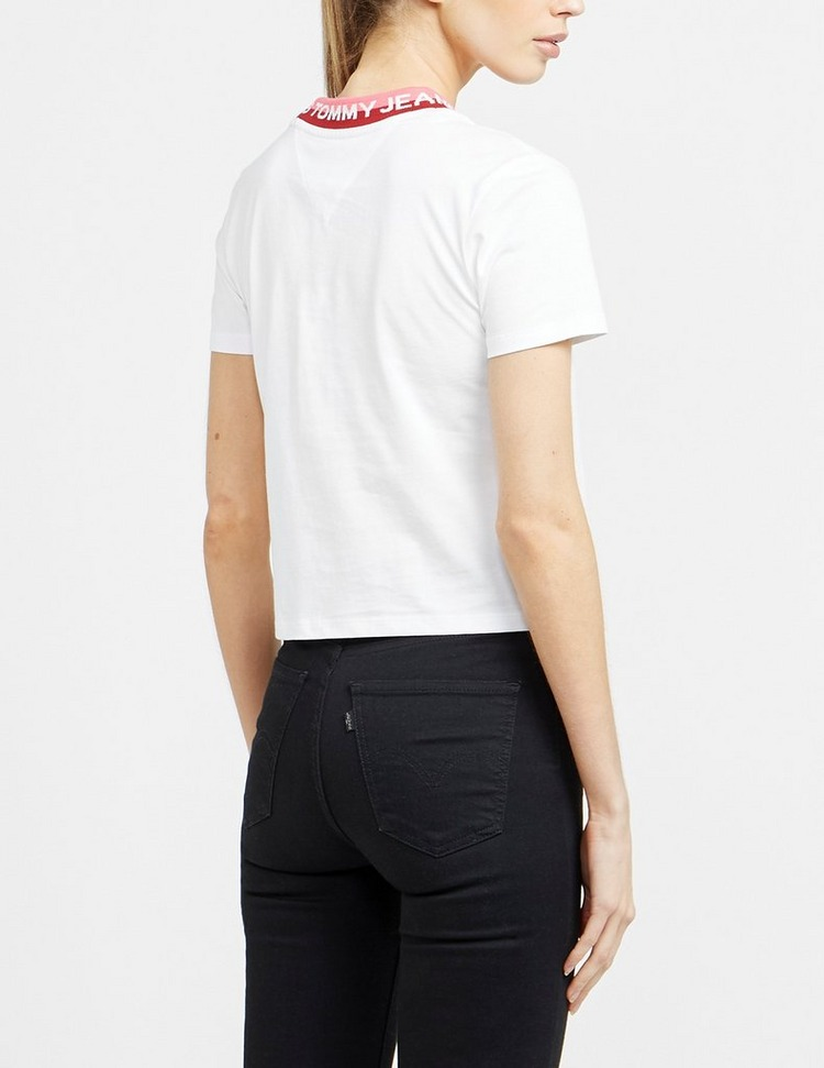 Tommy Jeans Brand Ribbed T-Shirt