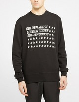 Golden Goose Deluxe Brand Golden Flag Crew Sweatshirt