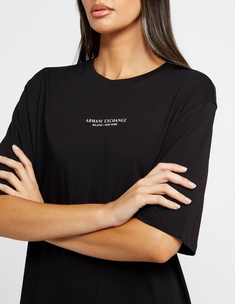 Armani Exchange Small NY Logo T-Shirt Dress