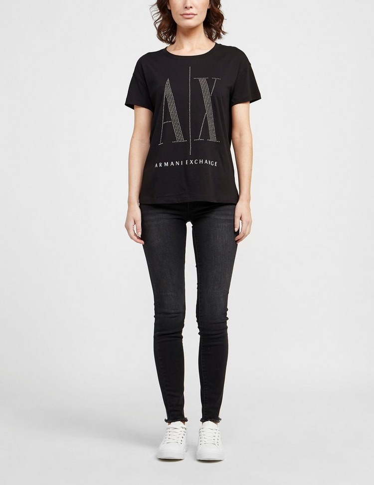 Armani Exchange Large Studded Logo T-Shirt
