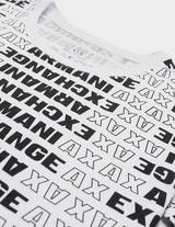 Armani Exchange All Over Logo Short Sleeve T-Shirt