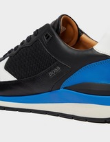 BOSS Element Leather Runner Trainers