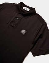 Stone Island Patch Logo Short Sleeve Polo Shirt