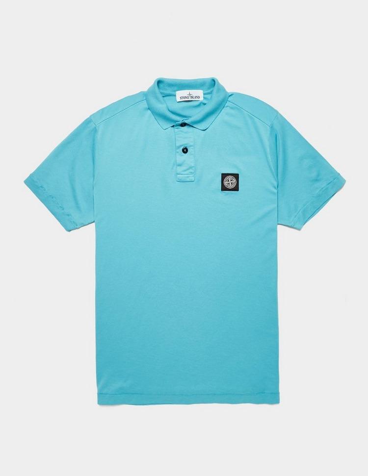 Stone Island Patch Logo Short Sleeve Polo Shirt