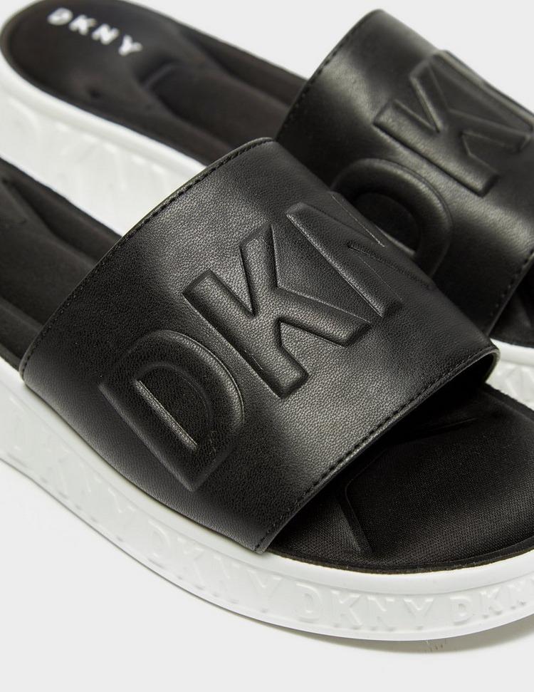 DKNY Embossed Slides