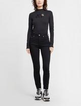 Calvin Klein Jeans Long Sleeve Ribbed Bodysuit