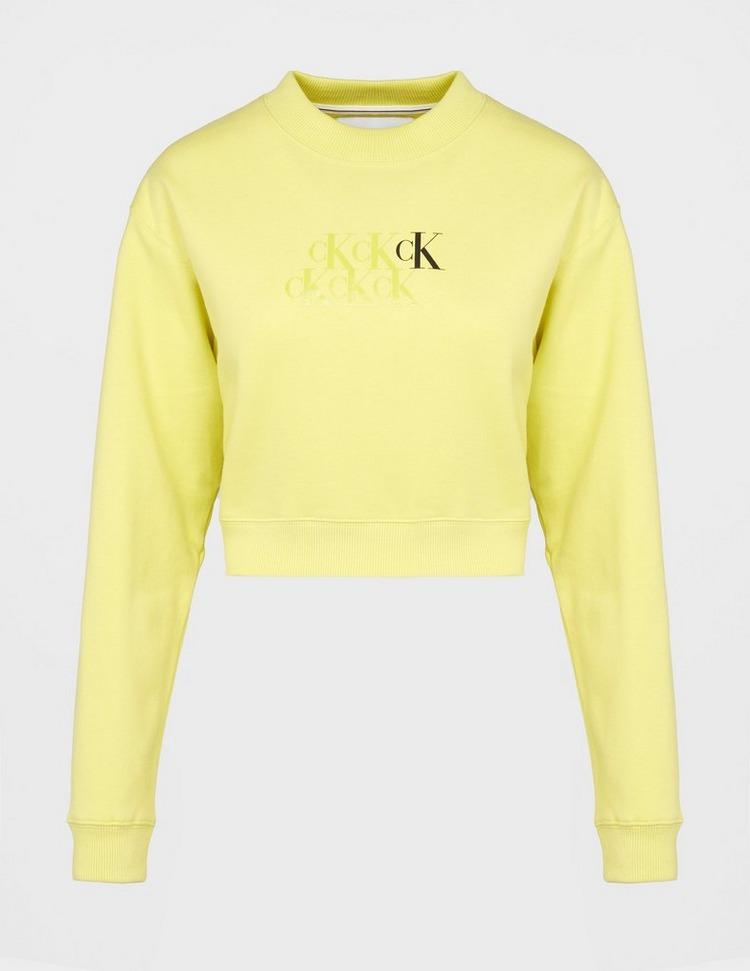 Calvin Klein Jeans Monogram Cropped Sweatshirt