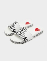 Love Moschino Print Logo Slides