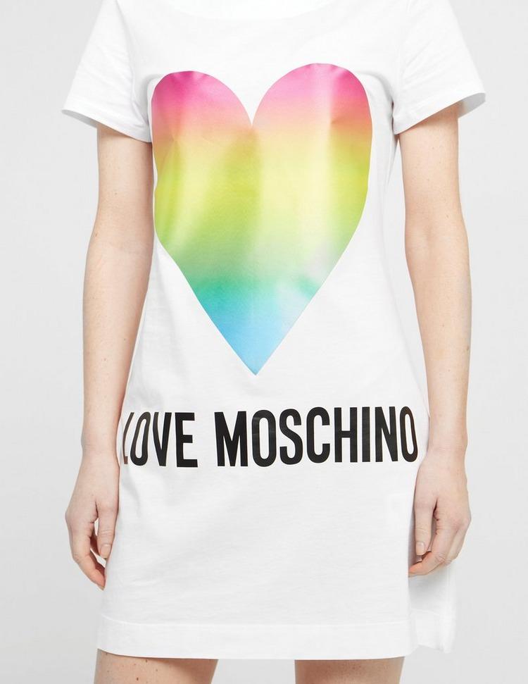 Love Moschino Rainbow Heart Dress