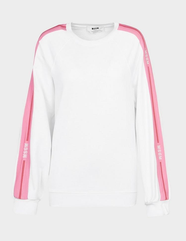 MSGM Pink Stripe Sweatshirt