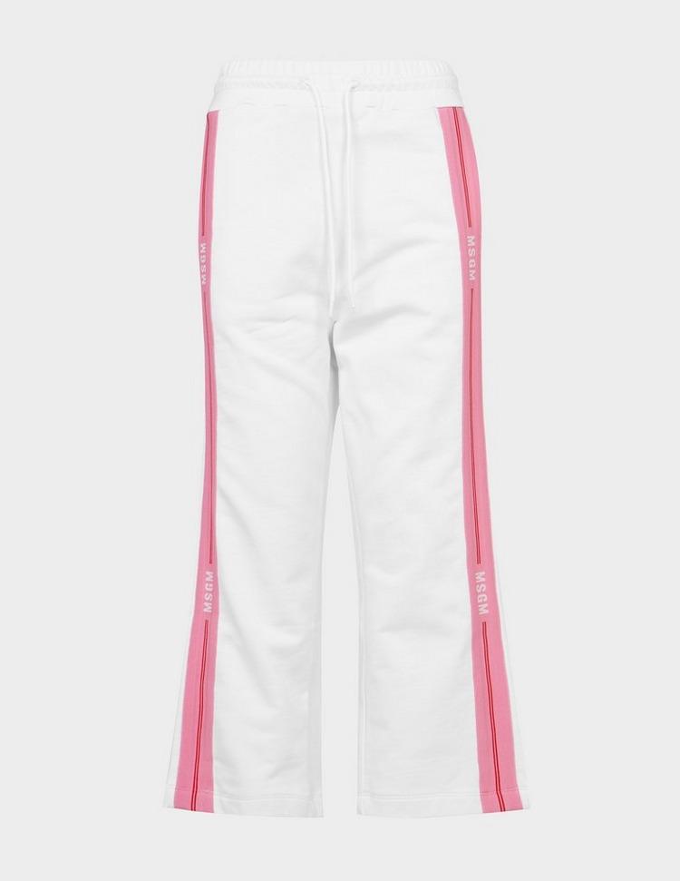 MSGM Pink Stripe Cropped Joggers