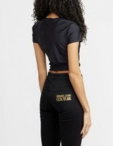 Versace Jeans Couture Patch Logo Cropped T-Shirt
