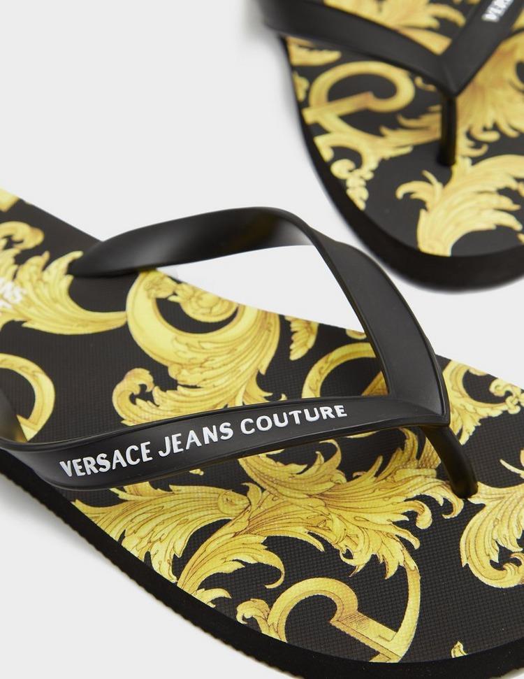 Versace Jeans Couture Baroque Flip Flops