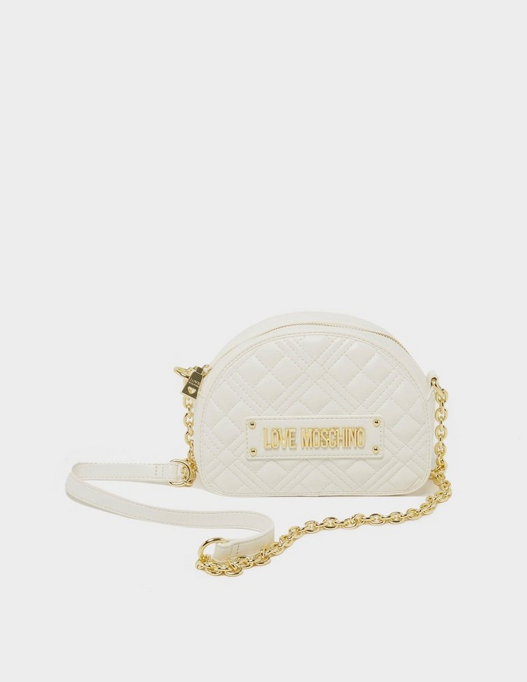 Love Moschino Quilted Half Dome Chain Shoulder Bag