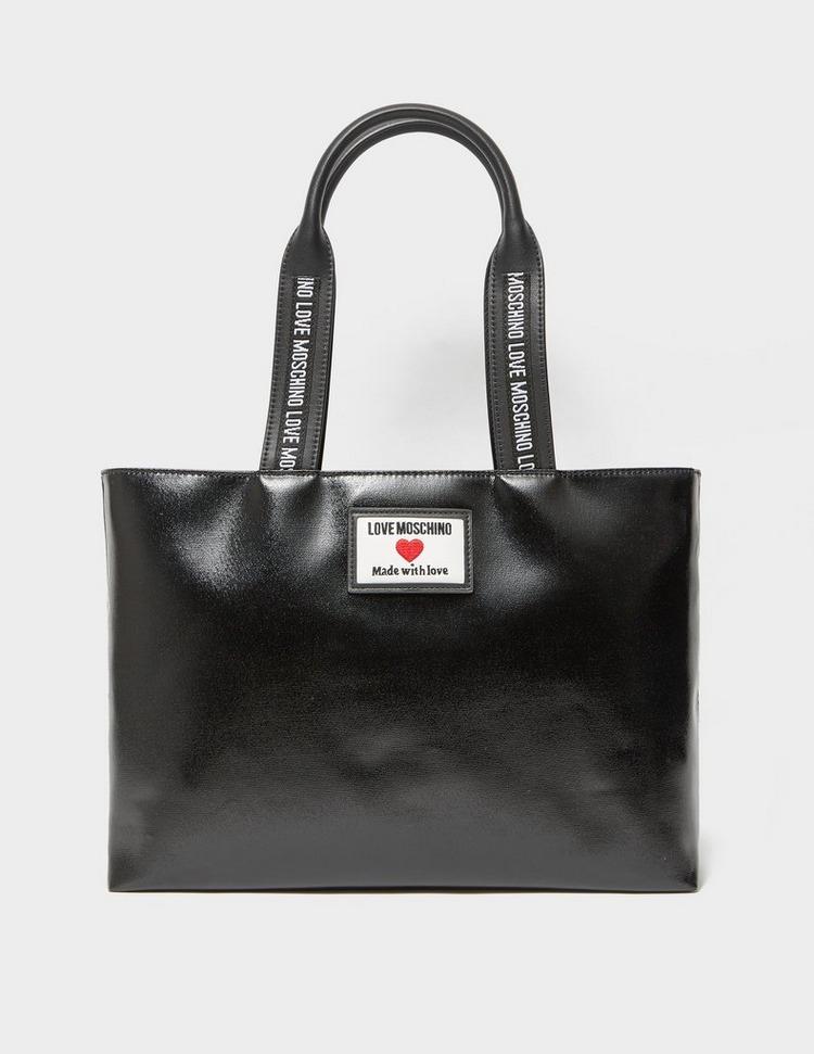 Love Moschino Tab PU Tote Bag